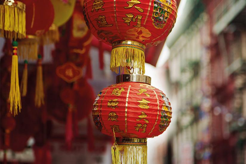 image 1 Lampe chinoise rouge dans le quartier chinois de New York Etats Unis 02 as_74640896