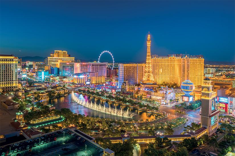 image 1 Vue aerienne de la bande de Las Vegas dans le Nevada 60 it 614972576