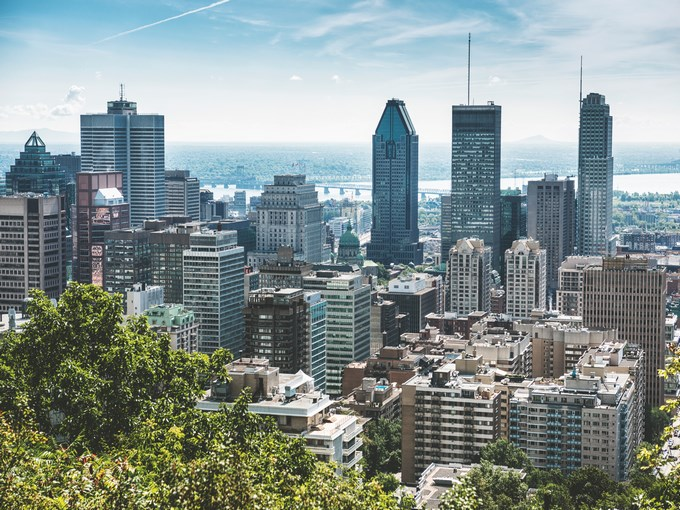 image Canada montreal vue aerienne