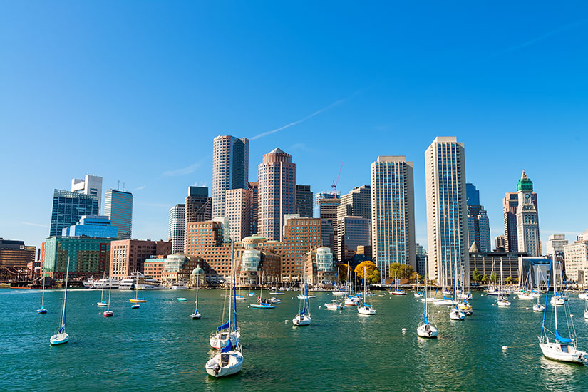 image Etats Unis Boston horizon urbain  fo