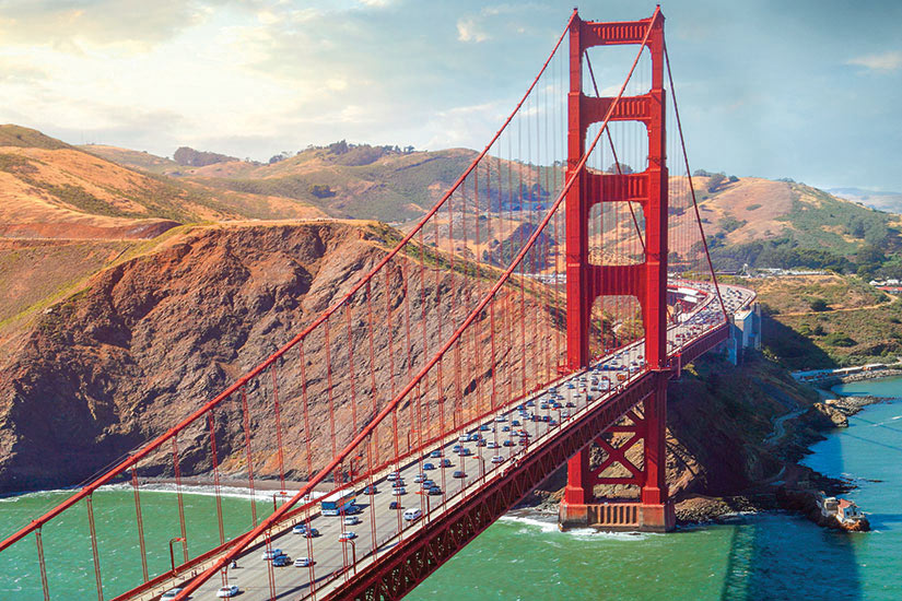 image Etats Unis Californie San Francisco Vue aerienne de Golden Gate Bridge  it