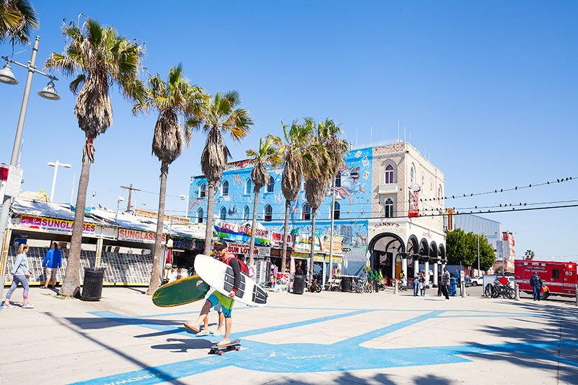 image Etats Unis Los Angeles Plage promenade Venise  it
