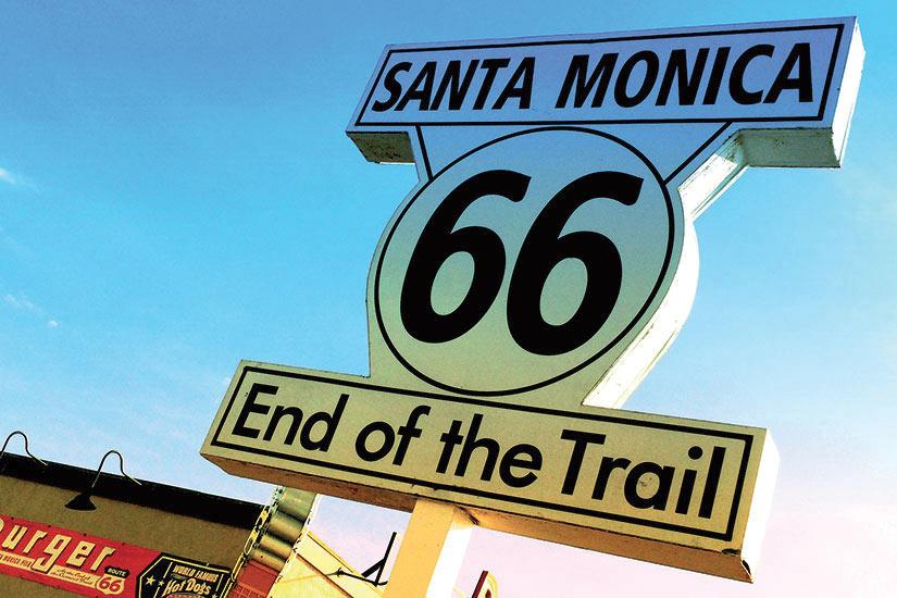 image Etats Unis Los angeles Santa Monica panneau