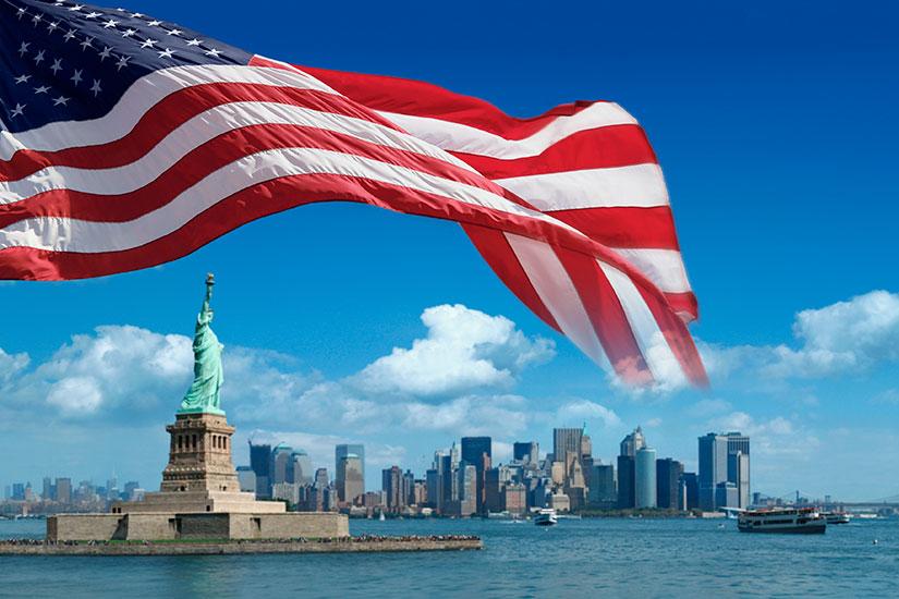 image Etats Unis New York Drapeau Statue Liberte  it