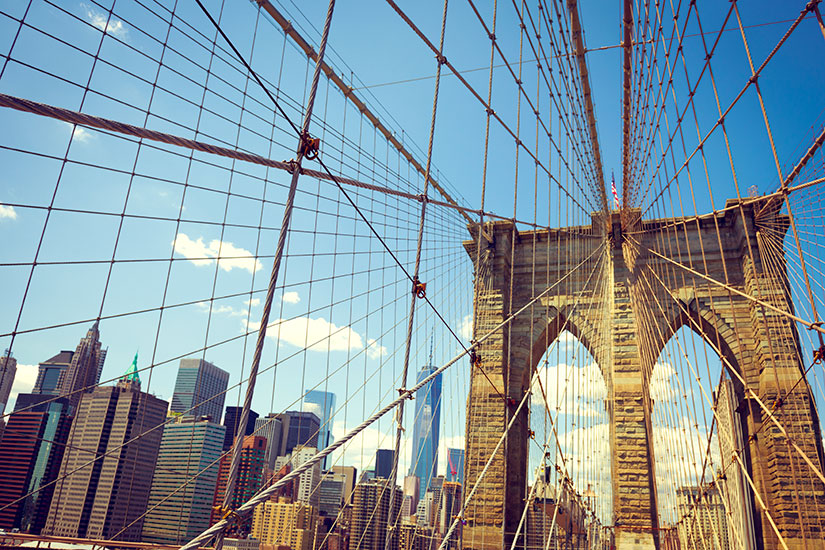 image Etats Unis New York Pont Brooklyn  it