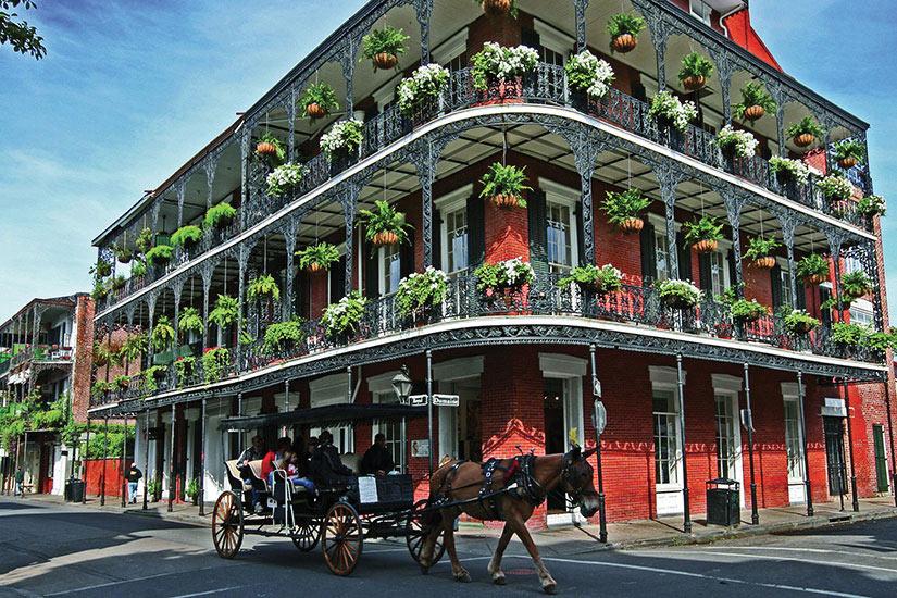 image Etats Unis Nouvelle Orleans Quartier francais chariot  fo