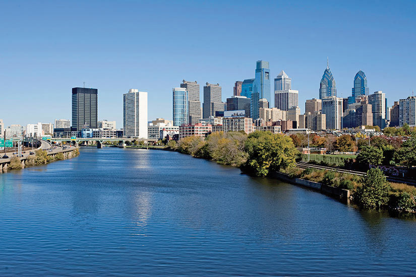 image Etats Unis Philadelphie Vue sur la riviere Schuylkill  it