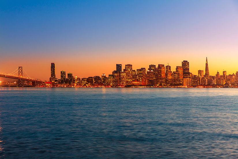 image Etats Unis San Francisco Coucher soleil  it