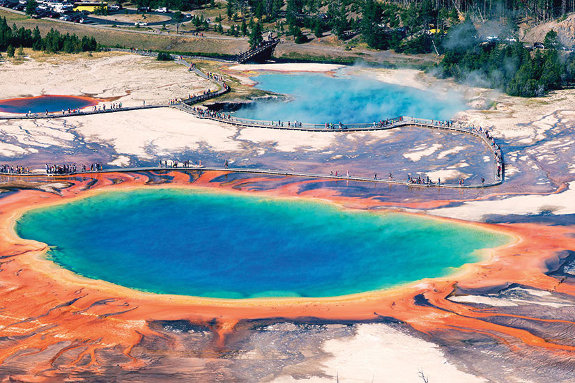 image Etats Unis Yellowstone Grand Prismatic Spring  fo