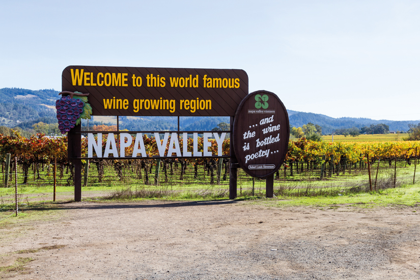 image Etats Unis napa valley signe bienvenue 24 as_130265066