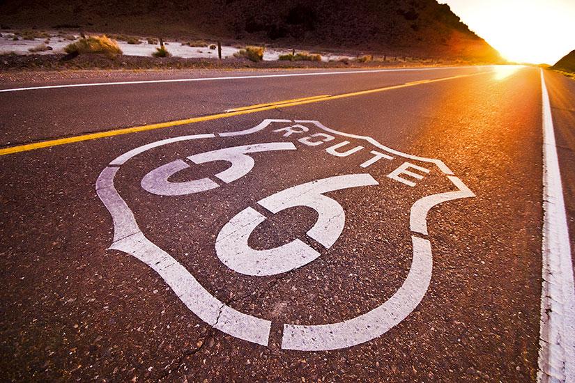 image Etats unis Route  coucher de soleil  fo