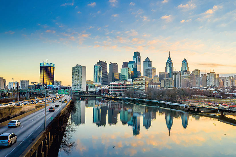 image USA Philadelphie crepuscule  it