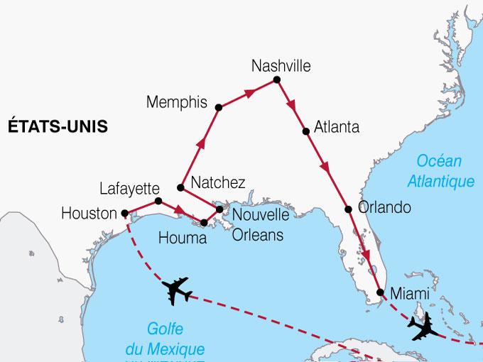 CARTE USA Texas Louisiane Floride  shhiver 137221