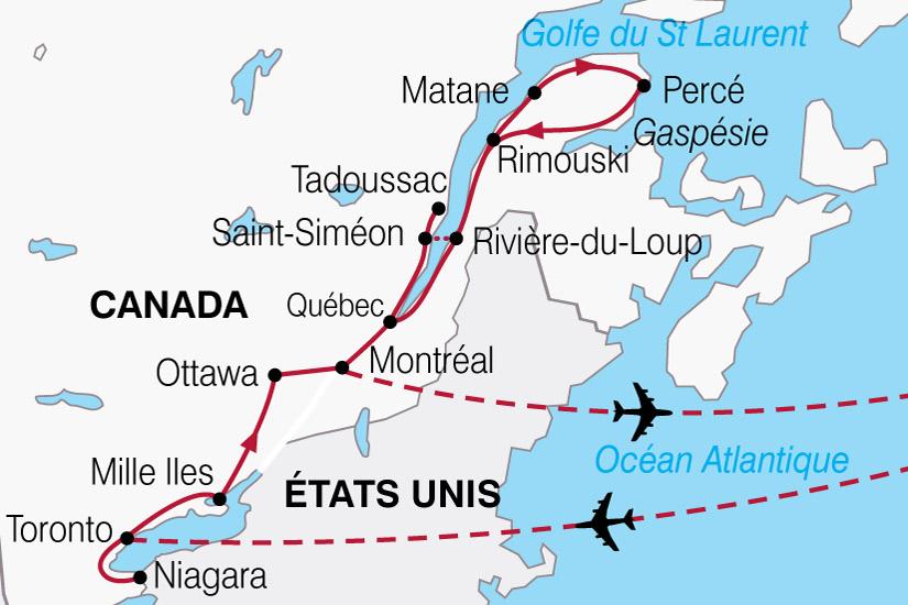 carte Canada Gaspesie Belles Provinces 229671