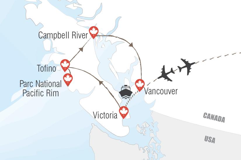 carte Canada Ile de Vancouver escapade de reve en hydravion Hugh 20_333 404389