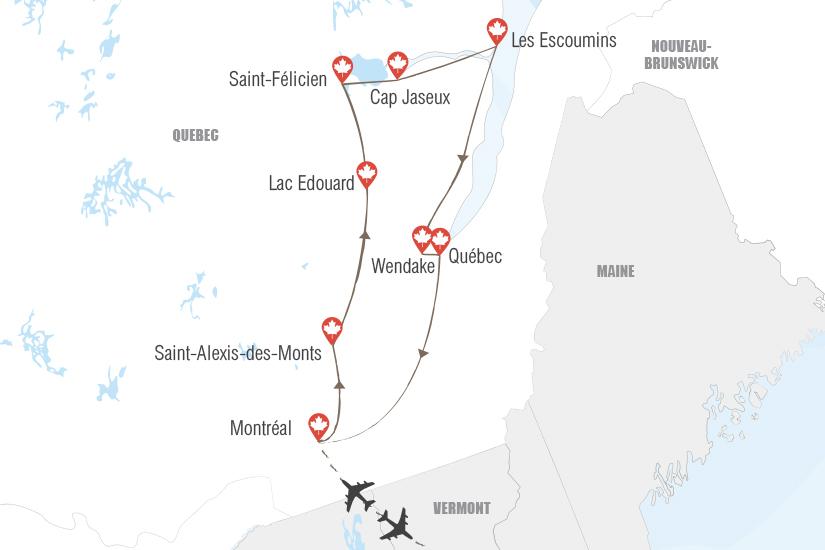 carte Canada Le Quebec au naturel Hugh 20_333 817308