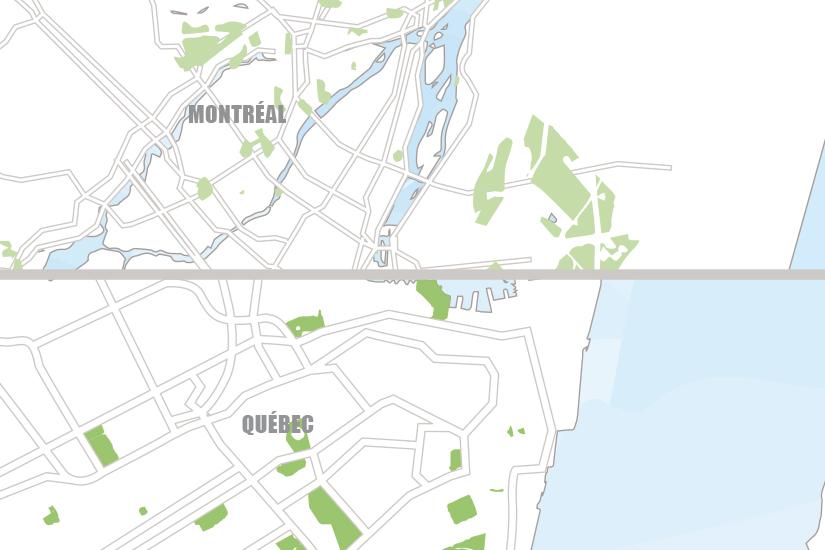 carte Canada Montreal et Quebec en train Hugh 20_333 304444