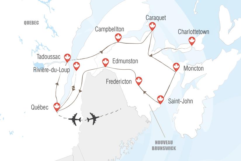 carte Canada Nouveau Brunswick l heritage acadien Hugh 20_333 709079