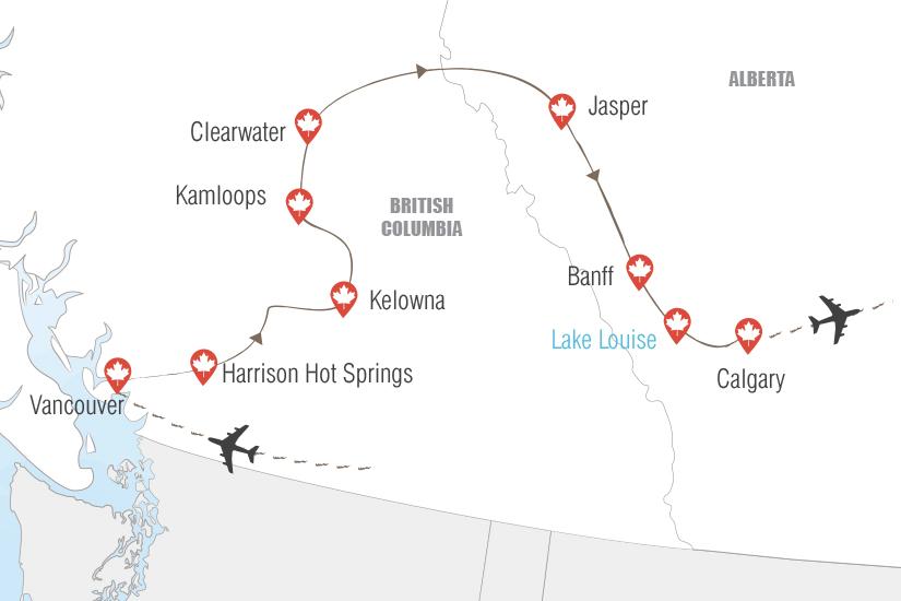 carte Canada Splendeurs de l ouest canadien Hugh 20_333 442052