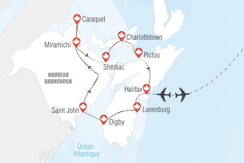 carte Canada Tour des provinces maritimes Hugh 20_333 481865