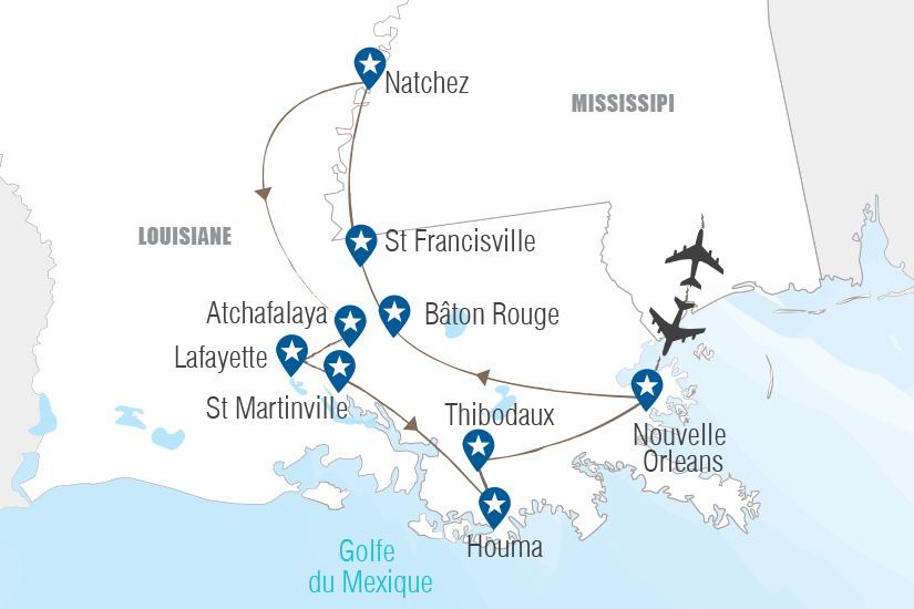 carte Etats Unis Heritage de Louisiane Hugh 21 22_364 838485