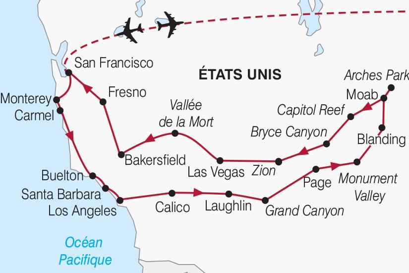 carte Etats Unis Immersion en terres americaines 2018_267 691178