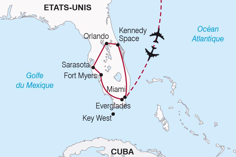 carte Etats Unis La Floride et les Keys SH20_339 266416