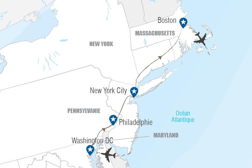 carte Etats Unis Villes et histoire du nouveau monde Hugh 21 22_364 757766