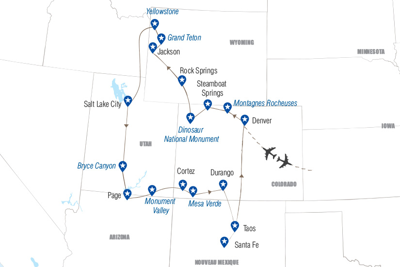 carte Geysers canyons et pueblos Hugh 19_282 727521