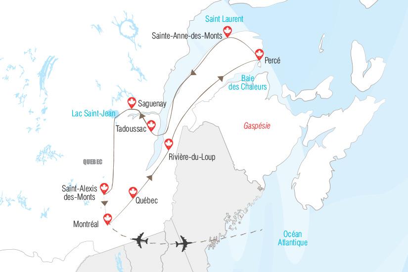 carte Quebec et Gaspesie chez nos cousins d Amerique Hugh 19_282 729197