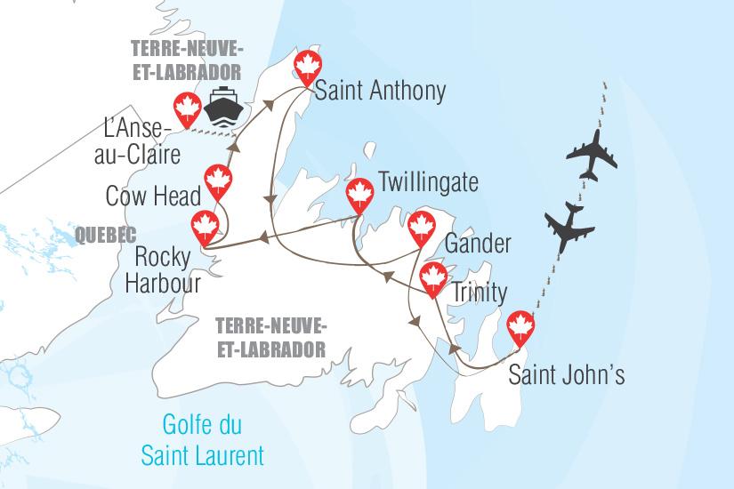 carte Terre Neuve et Labrador Hugh 19_282 184183