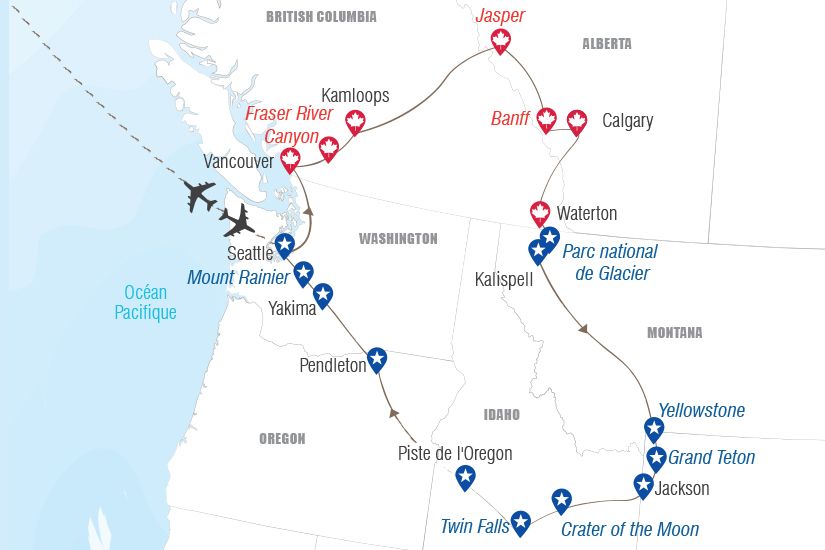 carte USA Canada tresors du Nord Ouest Hugh 20_333 401323