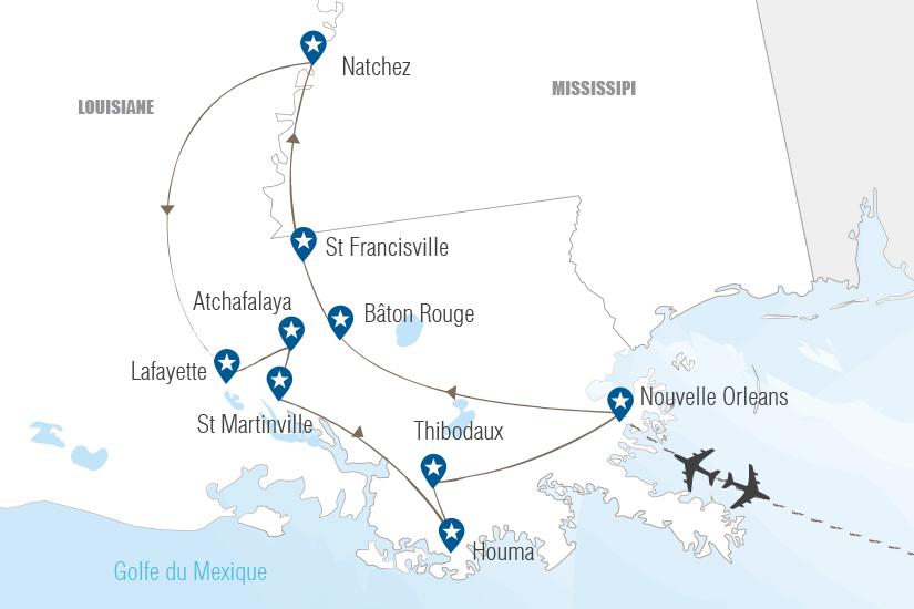 carte USA Charmes de Louisiane Hugh 20_333 486216