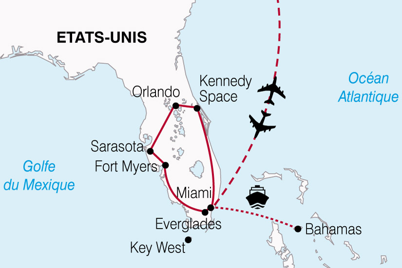 carte USA Floride Bahamas 548080