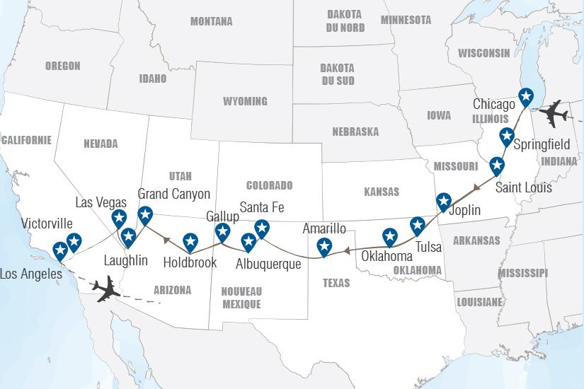 carte USA La Route 66 a moto avec guide Hugh 20_333 152608