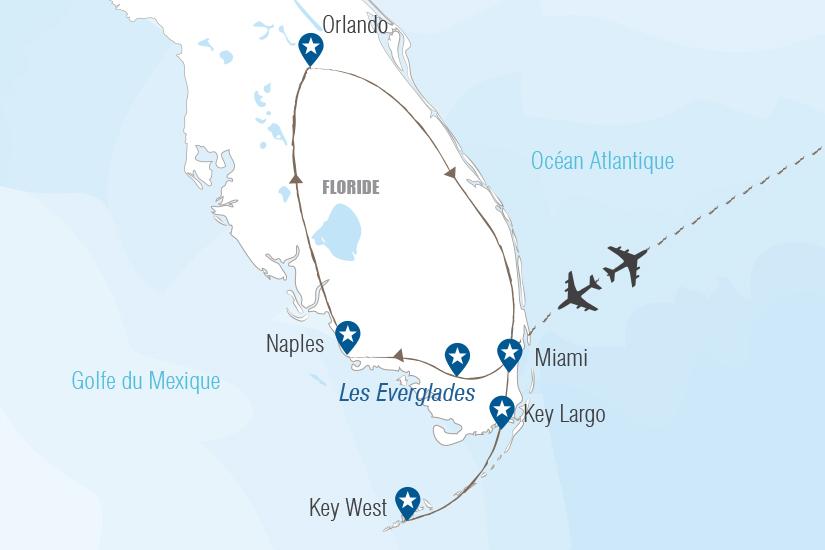 carte USA Le meilleur de la Floride Hugh 20_333 500900