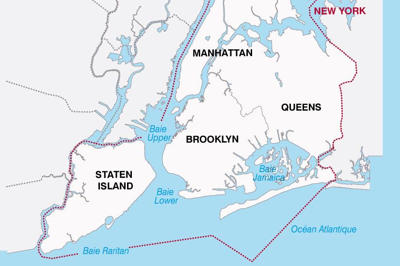 carte USA New York 219740