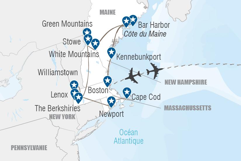 carte USA Souvenirs de Nouvelle Angleterre Hugh 20_333 160459