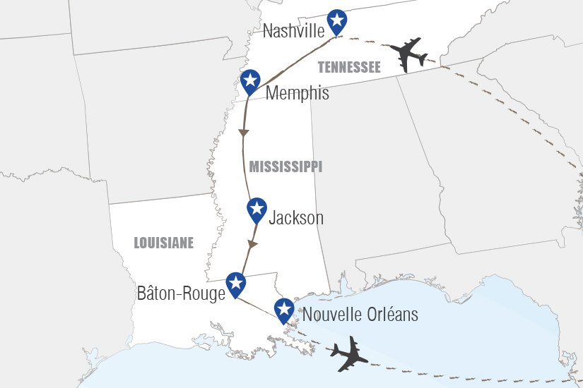 carte USA Sur la route de Memphis Hugh 20_333 404365