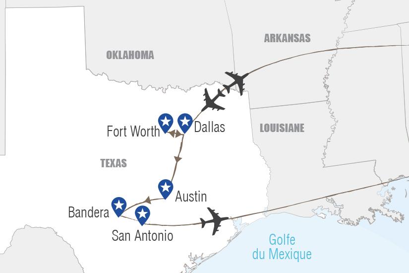 carte USA Texas ranch et Cowboys Hugh 20_333 898236