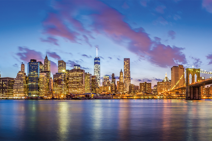 (image) image l horizon du centre ville de New York ville Manhattan et pont de Brooklyn 09 as_79865656