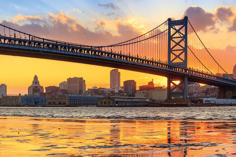 (image) image ligne d horizon de Philadelphie Ben Franklin Bridge et Penn s 16 as_62216619