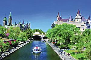 circuit canada ottawa rideau canal parlement canada chateau laurier  fo