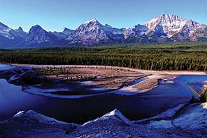 canada parc national jasper riviere athabasca et jasper paysage  it