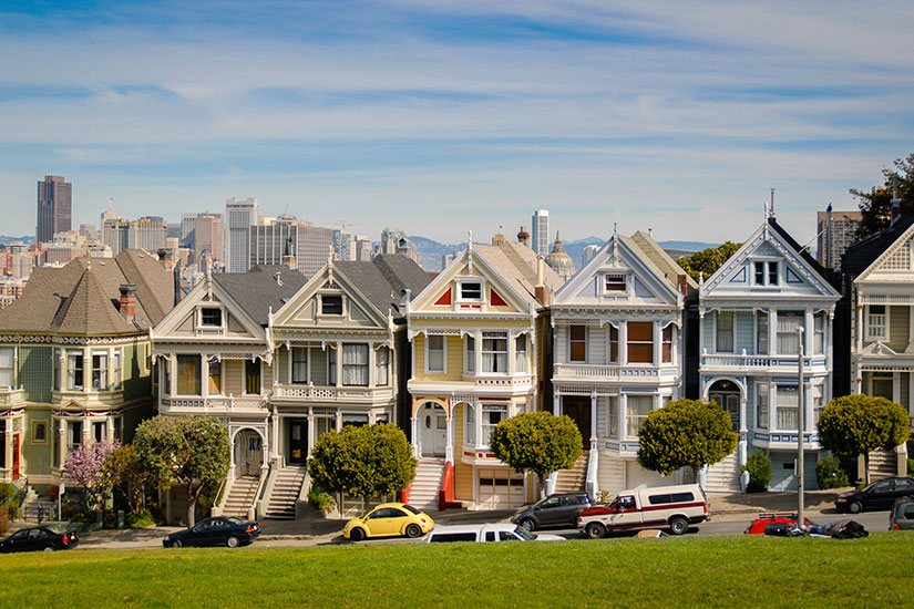 etats unis californie san francisco maisons victoriennes de couleur  it