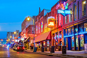 etats unis memphis beale rue musique district  it