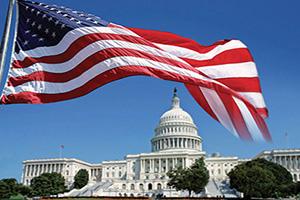 etats unis washington capitol et drapeau  it