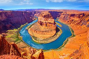 etats unis riviere colorado horseshoe bend meandre  fo
